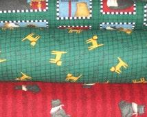 Fabric Bundle Lot Debbie Mumm Cat Scotty Dog Flannel Fat Quarters FQs or Yards quilt kit