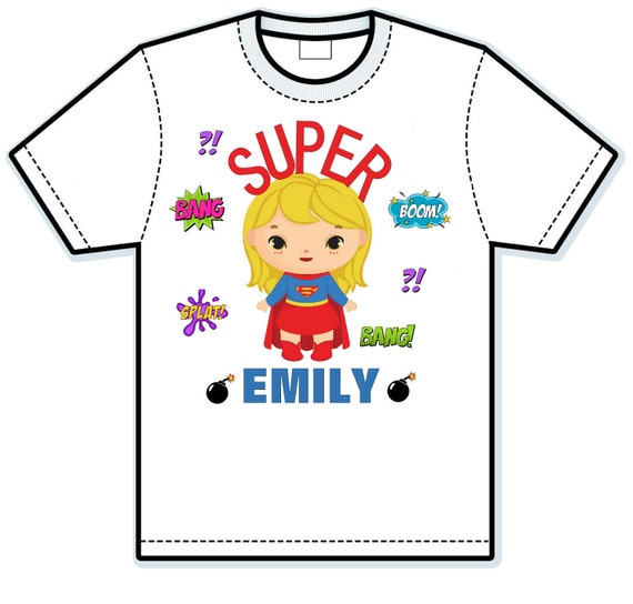 Super Girl's Children's Hand Painted Shirts