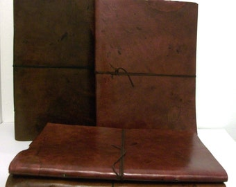 Leather bound Sketchbook/Photo Album/Fairtrade/ Vintage/Handmade/Recycled Paper