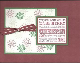 Handmade Christmas Card Post Card – Item #GC00016