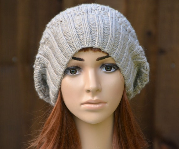 Womens Oversized Slouchy Beanie Hat Knitting Pattern PDF Instant Digital Down...
