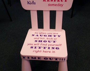 Naughty time out chair stool seat