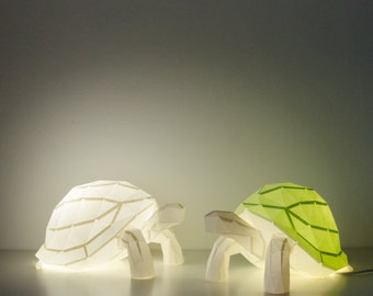Tortoise - DIY Colour Paperlamp ( pre-cut papercraft kit, DIY paper lamp )
