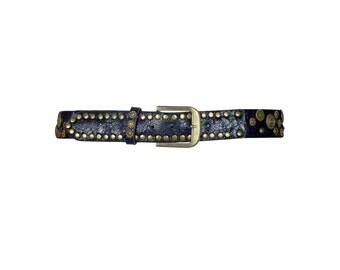 Black Embellished Jeans Belt UK S/M