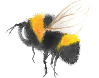 Bumble Bee Watercolour