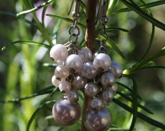 Beautiful Set of Pearl cluster earrings