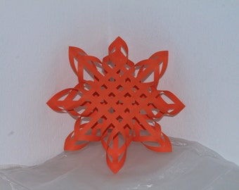 3D Snowflake Wallart / 3D Star ornament / Home accents / home decor / 3D Art / Wall Decor /