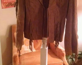 CLEARANCE Fringe leather jacket. Reduced 15.00