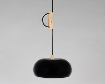 Pendant lamp Rhoda CL black and copper
