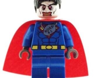 Custom Designed Minfigure - Bizarro Printed On LEGO Parts