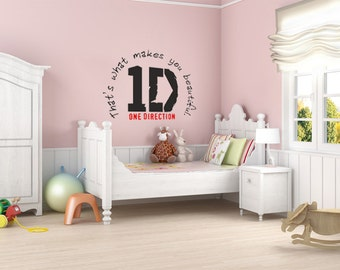 1D Wall Sticker, One Direction Logo With Lyrics, Wall Art Sticker, Vinyl  Decal Part 41