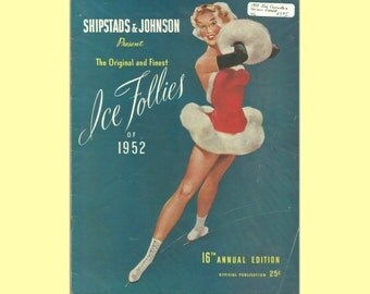1952 Shipstads & Johnson Ice Follies Skating Program VG - 16th Annual Edition - Richard Dwyer First Performance!