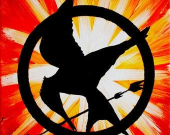Mockingjay on Fire Print