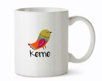 Unique Mugs - Name Coffee Mugs - Personalized Mug - Unique Coffee Mugs - Mugs with Names - Name Mug - Custom Unique Mug - Bird Mug