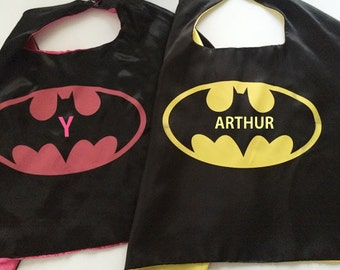Batman cape, Batman costume, superhero kids clothes, Batman cosplay, super hero cosplay, Batman party, Batgirl cape