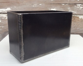 Modern rectangle steel planter