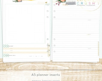 Websters Pages - Color Crush Collection - A5 Planner - Inserts - Memory Keeping P1011