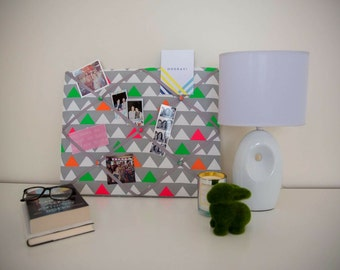 Colour Triangles YOU Board, memory board, ribbon board, bulletin board, message board, home decor, photo board, wall hanging, gift