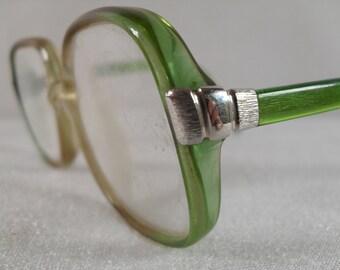 Vintage Metzler glasses, Metzler Germany, Metzler glasses green,beige Metzler glasses