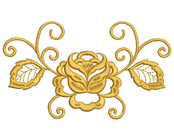 Rose Embroidery design. Flower embroidery design. Pattern embroidery.  Machine embroidery design.