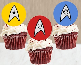 Star Trek Cupcake Toppers - Instant Download - Star Trek Cupcakes - Star Trek Party - Digital Download - Cupcake Toppers - Cake Toppers