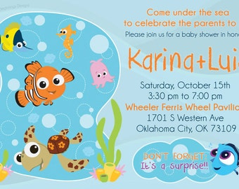 High Quality Finding Nemo Baby Shower Invitation