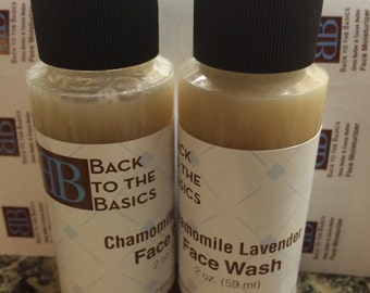 Soothing chamomile lavender face wash