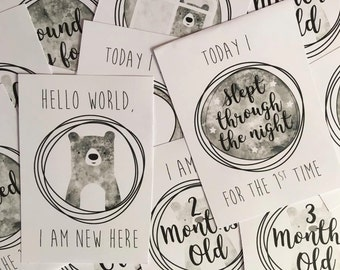 20 A6 Baby Milestone Cards
