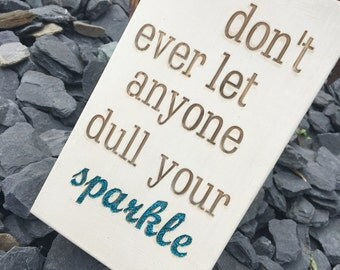 Funny Wall Sign, Glitter Sign, Hand Painted Sign, Sparkle Sign, Glitter Wall Art, Chalk Paint Sign, Personalised Sign, Wall Plaque, Sparkle