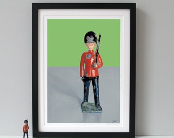 Queen's Guard, Fine Art Print, London Guard print, Toy soldier print, British army, London gifts, Limited Edition Prints - BEST OF BRITISH -