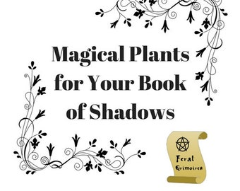 14 Pages Herb Magic Wicca Book of Shadows Pagan Grimoire Instant Download