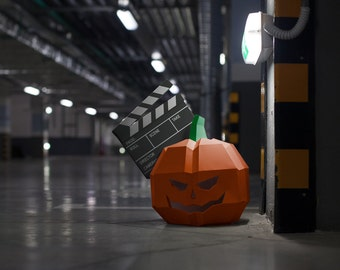 Moviemask Halloween Pumpkin low polygon mask download pdf