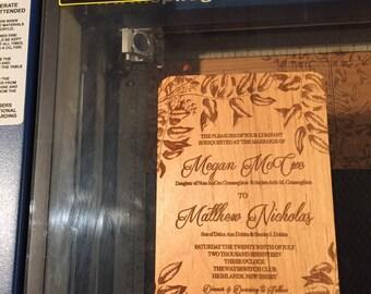 Custom Engraved Wedding Invitations