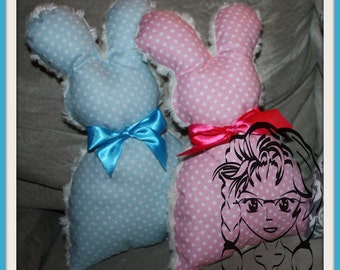 BUNNY Rabbit 3d Plush Softie Toy ~ In the Hoop ~ Downloadable DiGiTaL Machine Embroidery Design by Carrie