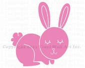 Bunny Vinyl Decal Size SMALL - Home Decor, Children's Room Decor, Nursery Design, Animal Decal, Office Decor,