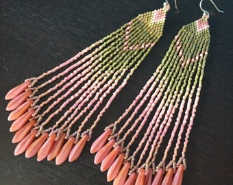 Wasabi & Ginger - Ombre Fringe Earrings
