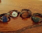 Genuine Sea Glass Napkin Rings-Set of 4