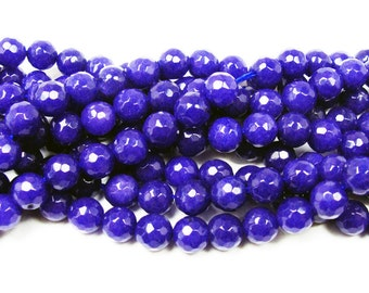 Lapis Blue Jade Faceted Gemstone Beads