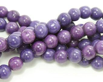 Purple Howlite Round Gemstone Beads
