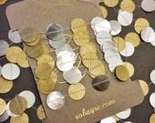 Original Gold and Silver Garland, String of Circles, Paper Garland Holiday