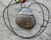 Landscape Jasper Stone || Earthy | Organic | Hand-Knotted | Natural Stone | Choker | Minimalist | Wedding | Etsy Necklace Under 20 | OOAK