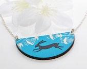 Rabbit Pendant Bunny Jewelry Black Rabbit - Bunny Rabbit - Rabbit Necklace - Bunny Jewellery