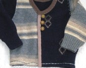 toddler boy cardigan . felted toddler sweater . made from recycled materials TERRANCE 502