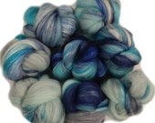 Kenai Fjords battlings -- mini batts (2 oz.) merino wool, silk, soysilk, navy sparkle.