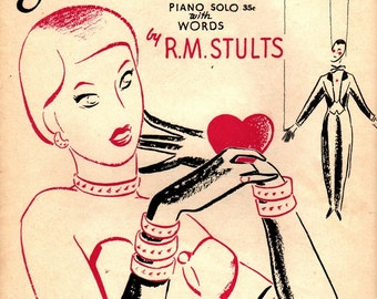 """Sweetest Story Ever Told """"Tell Me, Do You Love Me?"""" - R. M. Stults - John W. Schaum - 1951 - Vintage Sheet Music"""