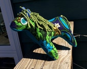 Blue Velvet the Recycled Fabric Horsey
