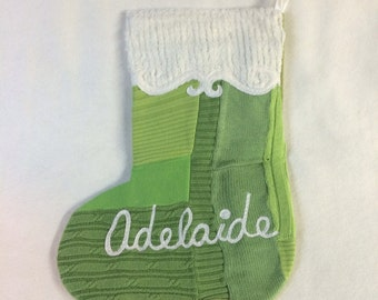 ADELAIDE Christmas Stocking - Ready to Ship