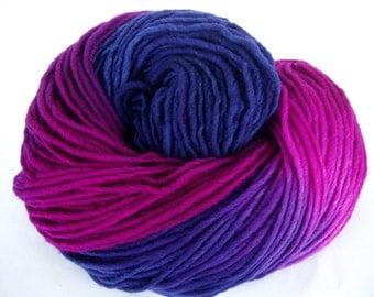 Extra soft hand painted merino yarn, worsted weight yarn, superwash, hand dyed merino yarn, dolls hair, aran yarn, single yarn, XXX, 222yds