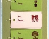 Letterpress Gift Tags, Cherry Topiaries