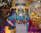 Alice in a Klimt Dream alice in wonderland art print by Jasmine Becket-Griffith 8x10 gustav klimt beethoven frieze adele bloch-bauer
